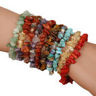 Chakra Chipped Raw Natural Stone Yoga Healing Quartz Crystal Stretch Bracelet #9 image
