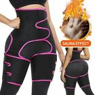 Thigh High Waist Trimmer Exercise Wrap Belt Sauna Sweat Slimming Body Shaper US image