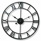 Nordic Metal Roman Numeral Wall Clocks Outdoor Garden Clock Decoration 40/47CM