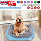 Lounger Dog Bed Soft Washable Fleece Fur Cushion Warm Luxury Pet Basket DEWORX