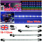 Aquarium Fish Tank LED Light RGB White Blue Strip Light Bar Lamp Lights+UK Plug