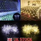 Led Fairy String Net Mesh Curtain Lights Waterproof Uk Plug Outdoor Home Decor