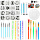 40pcs Mandala Dotting Tools for Clay Pottery Craft Painting Rocks Art Drawing image