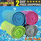 10 Pcs Ice Cold Instant Cooling Towel Running Jogging Gym Chilly Pad Sports Yoga image