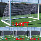 Net Multi Size Football Soccer Goal Post Nets For Sports Training Match Replace^