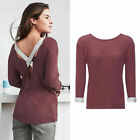 AVON LADIES ZARIA SUMMER KNIT CASUAL CROSSOVER BACK LOUNGE JUMPER TOP 10 - 20