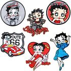 BETTY BOOP Lady Biker Patch Iron on Sew Applique Embroidered T shirt Dress Mask $5.95 USD on eBay
