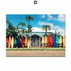Sea Beach Surf Car Coconut Tree Quotes Wall Art Canvas Painting Nordic Posters