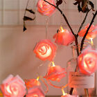 Plastic Home Decor Party Wedding Rose Lights String Usb Fairy Lamp Led Flower