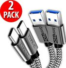 2 Pack Fast Charging Cord Type C Cable USB-C For Samsung Galaxy A10E A20 A50