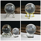 3d Solar System Miniature Crystal Ball Engraved Planets Model Home Decor Gift Au