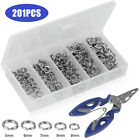 Fishing Accessories Kit With Fishing Swivels Hooks Sinker Weights Tackle Box Us