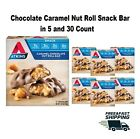 Chocolate Caramel Nut Roll Snack Bar Keto Friendly Food Diet in 5 & 30 Count