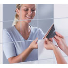 Wall Waterproof Decor Self Square Stickers 3d Tiles Paper Mirrors Adhesive Home