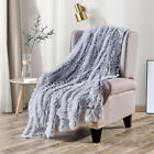 Luxury Plush Shaggy Faux Fur Blanket for Bed Sofa Warm Decortive Fluffy Throws image