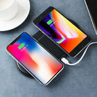 AU Dual Wireless Charging Pad,10W Qi Fast Charger Two Phones compatibility Phone