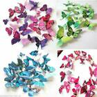 12pcs 3d Butterfly Wall Art Decal Stickers Magnet Mural Home Decoration Us