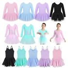 US Toddlers Kids Girls Ballet Leotards Tutu Dress Gymnastics Dancewear Costumes