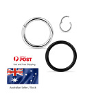 Hinged Segment Ring Surgical Steel Lip Ear Nose Piercing Clicker Hoop Septum