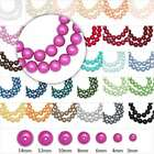 110Pcs 30 Colours 8mm Glass Round Pearl Loose Spacer Beads Wholesale F Necklace