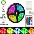 1-5m Usb Led Strip Lights Battery Operated Controller Color Change Home Decor Uk