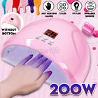 USB LED Nail Dryer UV Lamp Gel Nail Polish Fast Curing Light Timer Sensor