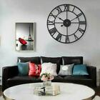 40cm Rose Gold Face Metal Skeleton Wall Clock Roman Numerals Home Large I8Z5