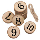 1-10 Valentine's Day Numbers Cards Set Wedding Wall Wood Slice Tables Seats