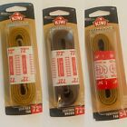 """New Pack Shoe Laces Outdoor Leather Tan / Brown,  54"""" / 72"""""""