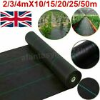 2/3/4m Weed Suppressant, Landscape Garden Fabric, Weed Control Barrier Membrane