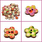 100pcs Plum Blossom Handmade DIY Colorful Accessories Craft Sewing Wooden Button