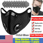 Reusable Face Mask With Mouth Covers Activated Carbon Breathing Valve Filter Pad