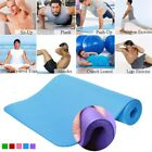 """Yoga mat 72"""" X 24"""" - 10mm Thick Durable Fitness Pilates Pad -with Carrying Strap image"""