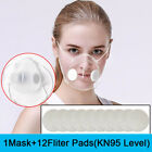Clear Face Masks +12xfilters Anti-droplets Respirator Face Mouth Cover Reusable