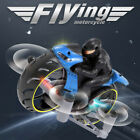 2 in 1 Motorcycle Mini Quadcopter 2.4G Land Air Dual Playing RC Stunt Drone L7O3