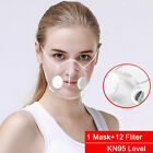 Reusable Clear Face Masks+10pc Filters Anti-droplets Respirator Face Mouth Mask