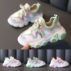 Toddler Infant Kids Baby Girls Mesh Breathable Lace Up Soft Sport Shoes Sneakers