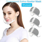 Clear Reusable Adjustable Mouth Shield Anti-Splash Half-face Shield Chef Tool