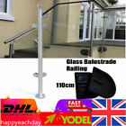 110cm Glass Balustrade Railing Glazing Stainless Stair Pool Fence Pole Handrail