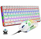US Gaming Mechanical Keyboard LED Backlit USB Wired Lightweight RGB Gamer Mouse