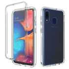 For Samsung Galaxy A20S Clear Crystal Hybrid Case TPU Cover + Screen Protector