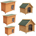 Large Wooden Dog Pet Kennel Outdoor House Shelter Animal Hut Removable Floor UK