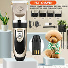 Professional Dog Clippers Pet Cat Clipper Hair Shaver Grooming Trimmer Kit SET U