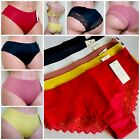 6-12 Bikini CHEEKY Laser Cut No Stitch Lace Seamless Silky Underwears 7118 S-XL