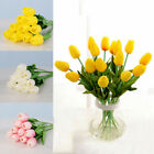 10 Pcs Artificial Tulip Flowers False Fake Bouquet Real Touch Home Wedding Decor
