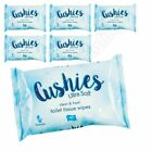 Cushies Ultra Soft Toilet Tissue Wipes Flushable Gentle PH Balance Alcohol Free
