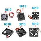 Cooling Turbo Fan Brushless DC Cooler Blower 2-Wire Black Plastic Fan For