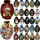 Couples Funny Animal Print Xmas Party Sweater Jumper Unisex Hoodie Pullover Tops