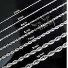 Stainless Steel Rope Chain Silver 16