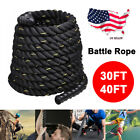 Poly Dacron Battle Rope Exercise Workout Strength Training Undulation 30/40ft US